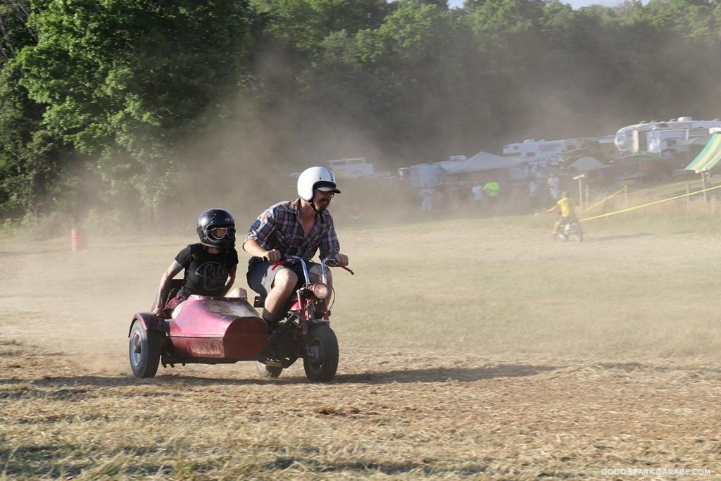 Dirt Track Sidecar Couple