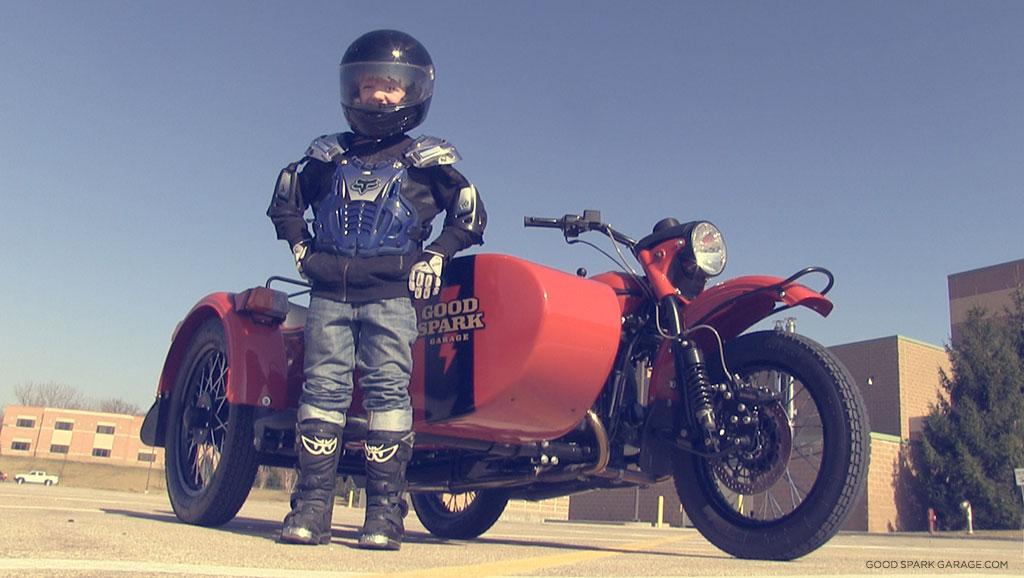 Ural Motorcycle Sidecar Kids