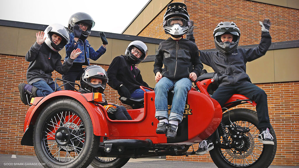Ural Sidecar Kids Good Spark Garage