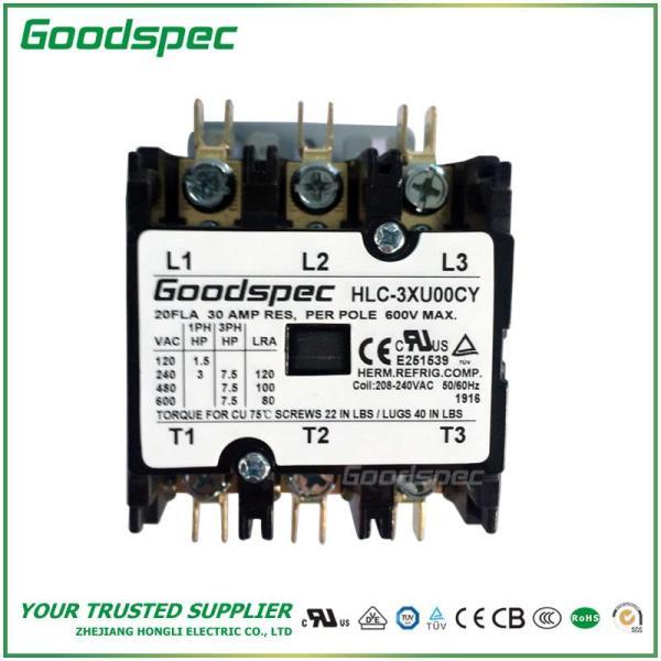 HLC-3XU00CY(3P/20A/208-240VAC)DEFINITE PURPOSE CONTACTOR