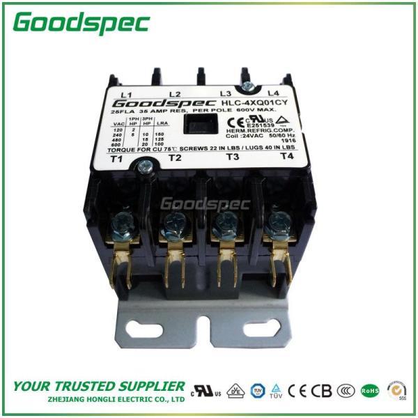 HLC-4XQ01CY(4P/25A/24V) DEFINITE PURPOSE CONTACTOR