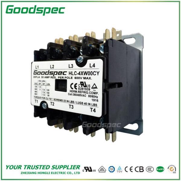 HLC-4XW00CY(4P/20A/380-400V)DEFINITE PURPOSE CONTACTOR