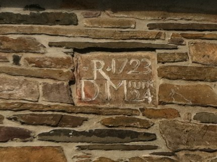 Date stone for Daniel Robins' house