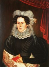 Unknown Woman, 1830s, painted by Milton Hopkins