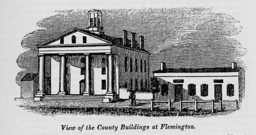 Flemington Courthouse, from Barber & Howe, p. 251 (1845)