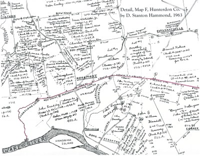 The Lotting Purchase Line, detail of Hammond Map F