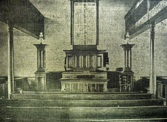 Interior of the Locktown Baptist Church, 1905