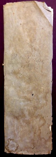 Cover of volume one of Benjamin H. Ellicott's Diary