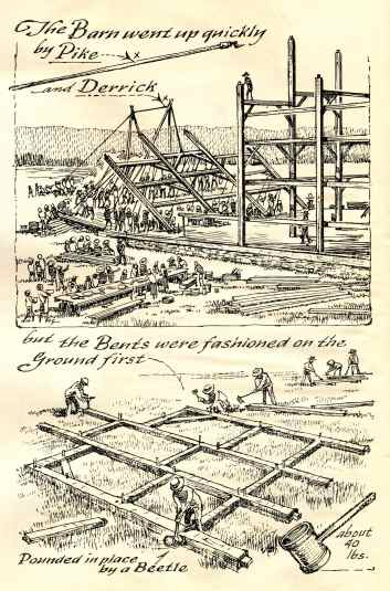 "illustration by Eric Sloane, from ""An Age of Barns"""