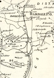 Detail of Beers Comstock Atlas of Hunterdon County, 1873
