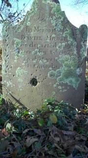 Gravestone of Daniel Moore