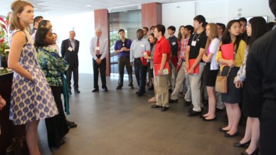 Photo: HS student luncheon with entrepreneurs at UH