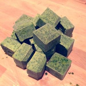 freeze fresh herbs in oil
