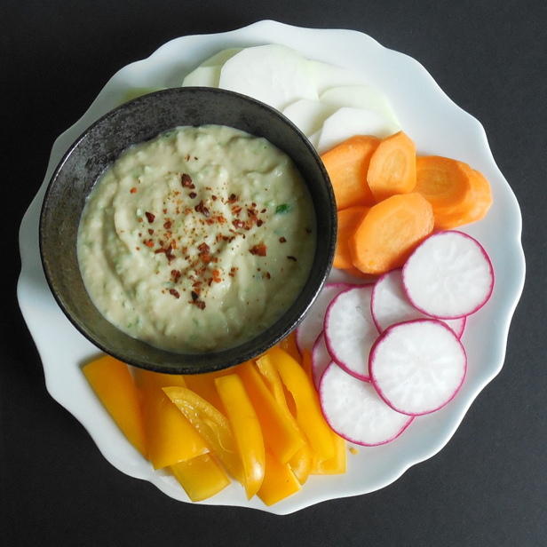 White Bean and Garlic Scape Dip | Get the Good Stuff