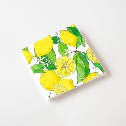 Lemon Cocktail Napkins