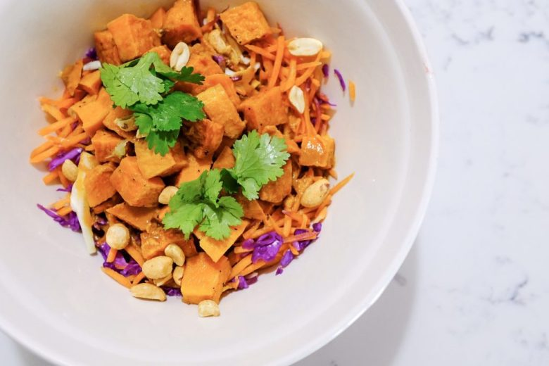 recipe ideas to make with leftovers - Sweet potatoes in salad
