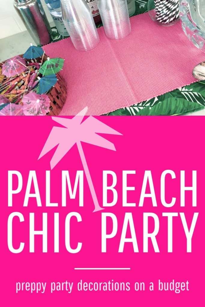Palm beach chic party decorations
