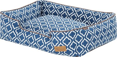 blue moroccan print dog bed