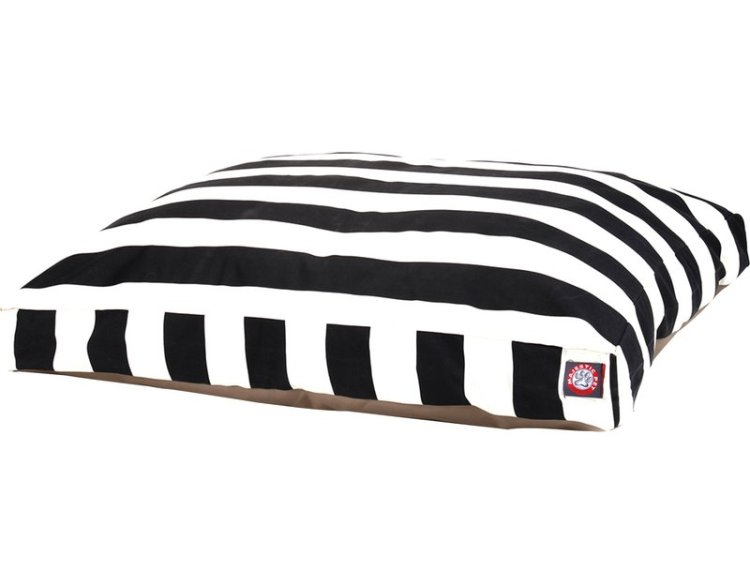 Black and White Striped Dog BedBlack and White Striped Dog Bed