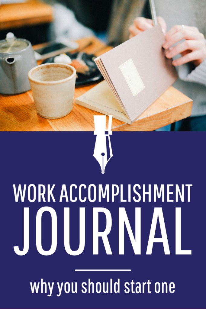 work accomplishment journal