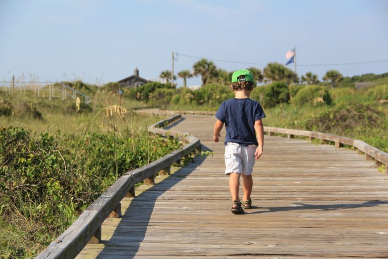 Myrtle Beach State Park has a beautiful walking path