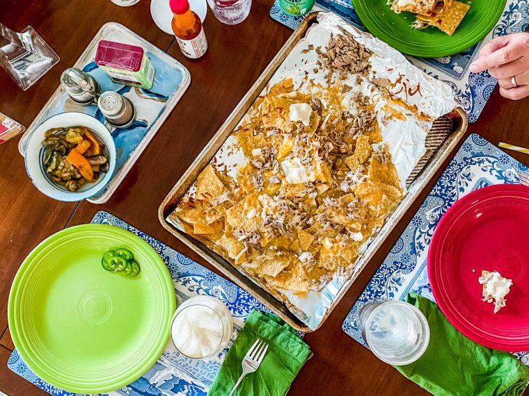 Family nacho night