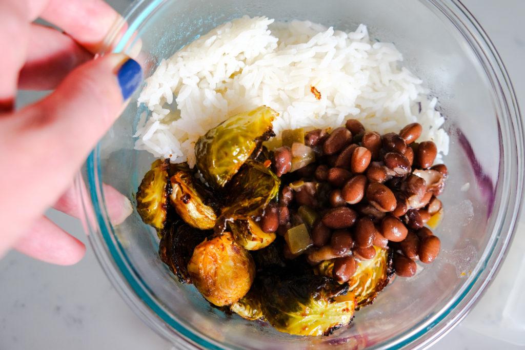 Spicy veggie bowl