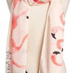 kate spade flamingo scarf with tassels
