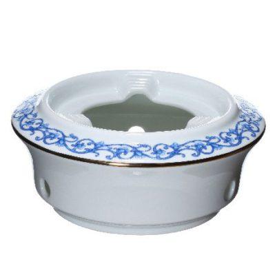Подставка под большой фьюжн-чайник с синим орнаментом