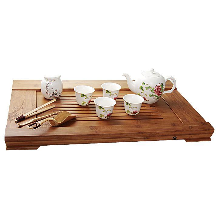 Бамбуковый чайный столик (39×60 см)