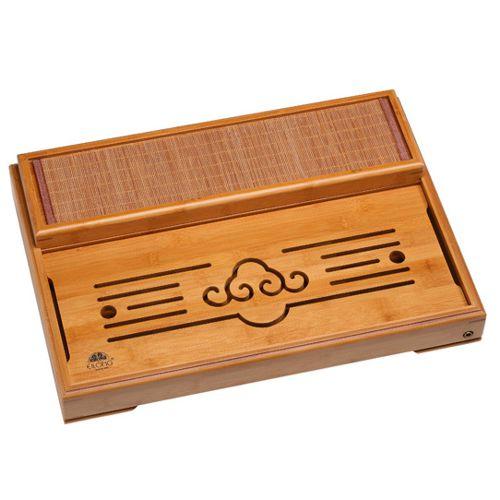 Бамбуковый чайный столик с циновкой (35×50 см)