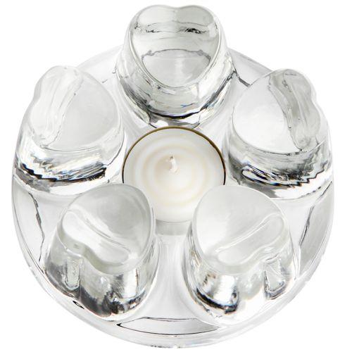 Стеклянная подставка под чайник с греющей свечой
