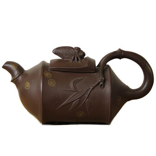 Глиняный чайник «Цикада на бамбуке» (250 мл)
