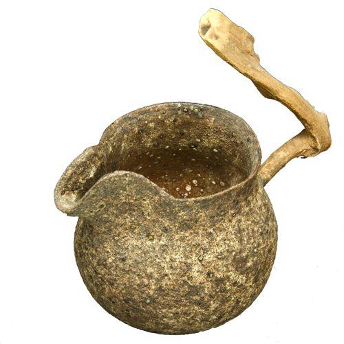 Сливник глиняный с ручкой-корягой. Мастер Chevy Chen