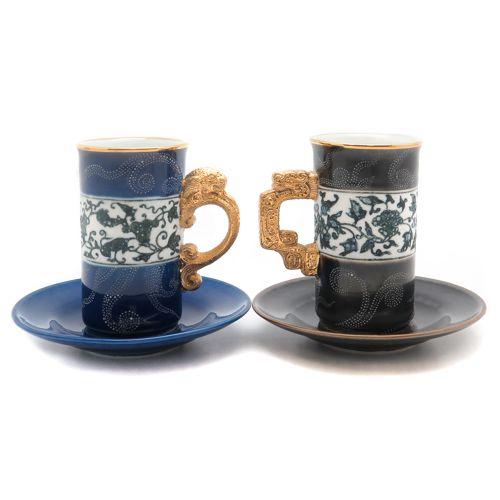 Набор чашек «Тигр и дракон» (2 пары)
