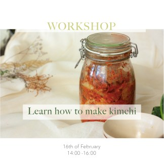 Learn how to amke kimchi workshop at tea stories