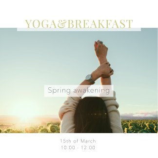 yoga and vegan breakfast
