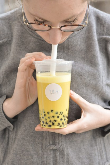 bubble tea golden milk tea stories