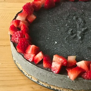 Japanese black sesame ice cake vegan