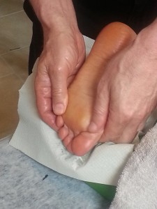 Image of foot being massaged