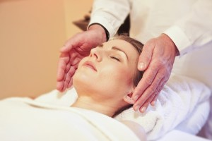 Image showing Reiki being practised