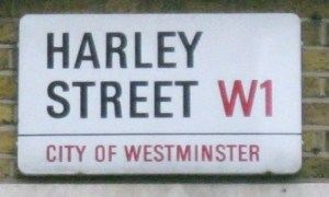 Street sign, Harley Street, Westminster, London W1