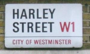 Street sign, Harley Street, Westminster, London W1