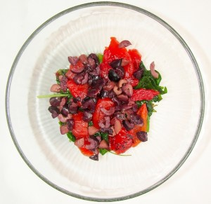Savory Sweet Quinoa Garbanzo Bean Salad kalamata olives