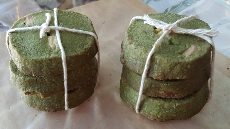Organic Green Tea (Matcha) White Chocolate Cookies