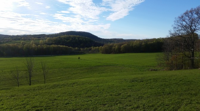 Scenic view of Cherry Valley, NY, between Cooperstown and Sharon Springs.