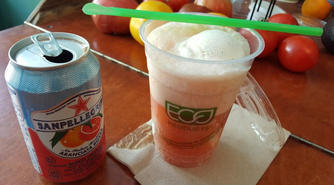 Our Pellegrino Blood Orange Soda Float is made with Stewart's locally-made, award-winning Philly Vanilla ice cream.