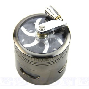 4 Layers Zinc Alloy Grinder with Hand Crank Mill Crusher 1
