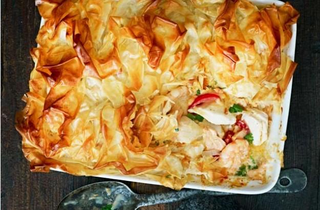 Filo pastry fish pie recipe - goodtoknow