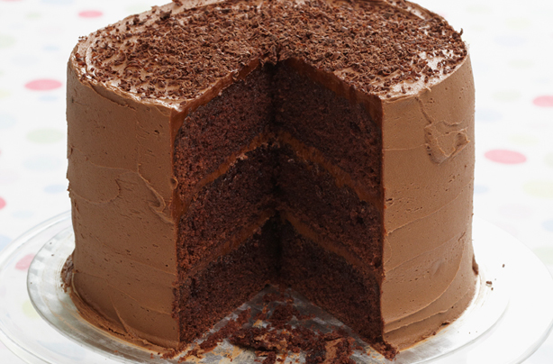 Image result for triple chocolate cake with fudge icing